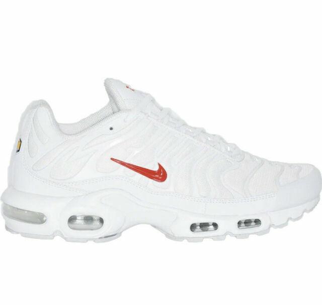 Size 10.5 - Nike Air Max Plus TN x Supreme White 2020