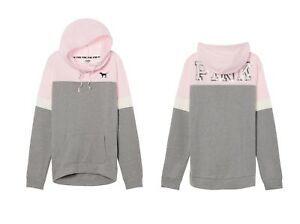 d31d7a1acc9c7 Victoria Secret Baby PINK Grey Bling Campus Crossover Tunic Pullover ...