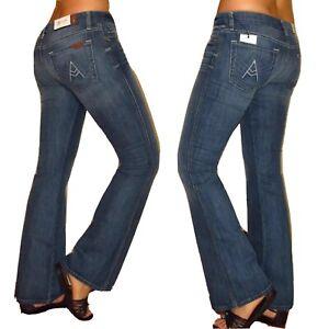 NUOVO Donna Jeans A Zampa Denim Stonewash morbido boot cut taglia 8 10 12 14 16