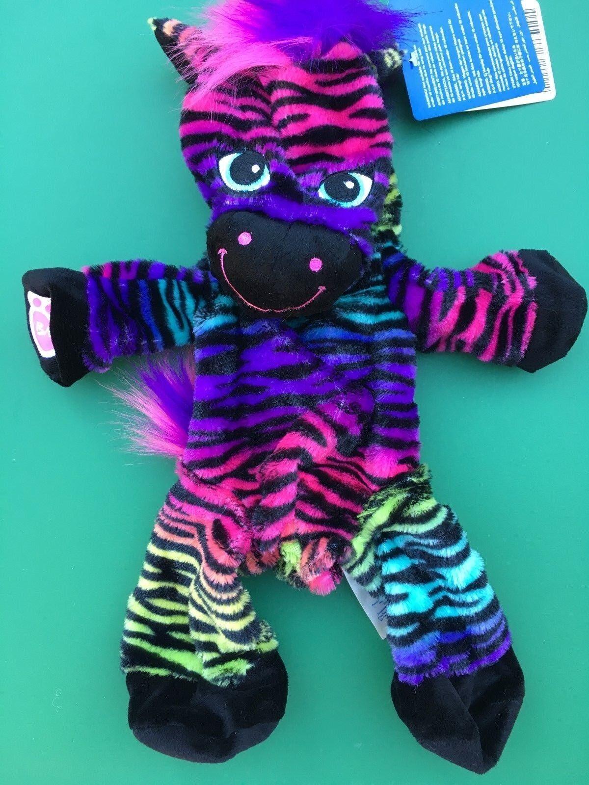 Build A Bear 17 In.wild Stil Schwarz Regenbogen Zebra Plüsch Ungefüllt Neu