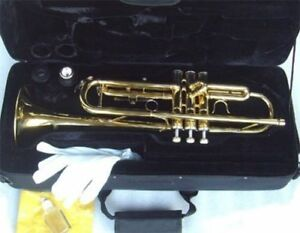 TRUMPET-NEW-BRASS-BAND-TRUMPETS-w-CASE-WARRANTY-APPROVED