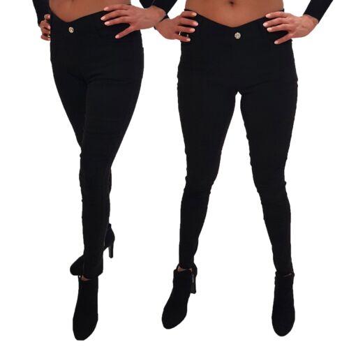 Stretch Hose Jeans-Look Röhre Skinny Leggings Color Treggings Jeggings Damen Neu