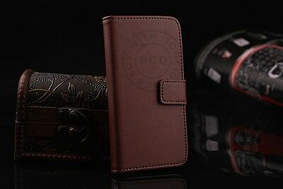 Genuine Leather Flip Case Cover Card Slot Stand Wallet Magnetic For iPhone