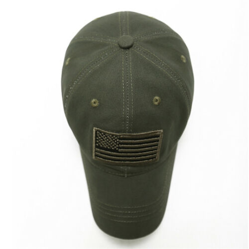 Military Tactical Operator Camo Baseball Caps American Flag Patch Hat Adjustable