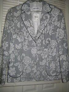 giacca di Weber Nwt Size leggera 44 Black White Blazer Gerry 4d1pwq4
