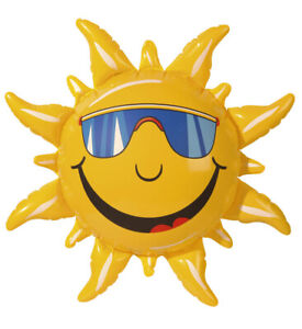 Aufblasbare Sonne Partydeko 60 cm Hawaii Beach Party Deko Gartenparty Sommerdeko