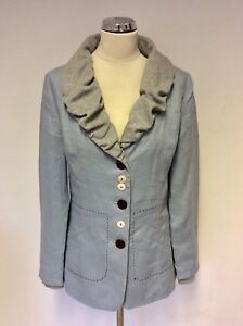 Cotton Linnen Jacket Blue Unbranded 10 Vk Grey Maat Light xHIOp