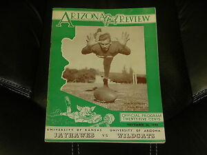 1949 KANSAS AT ARIZONA COLLEGE FOOTBALL PROGRAM EX-MINT