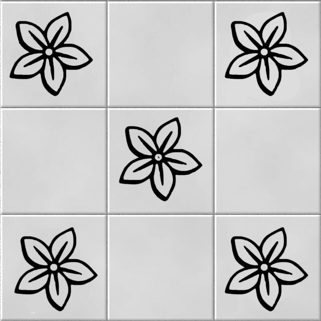 Flower, Vinyl, Wall Tile Stickers,Decal ,Transfers For Kitchen Wall Tiles..b