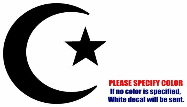 Islam Muslim Crescent Symbol Jdm Vinyl Decal Sticker Car Window