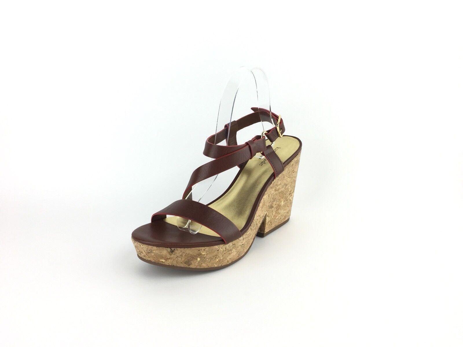 Kate Spade Leather damen braun Leather Spade Cork Heels 8.5 M bcac3b