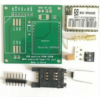 M590E GSM GPRS Module 900m-1800m Sms Message Diy Kits M590 Sms CPU MCU Test