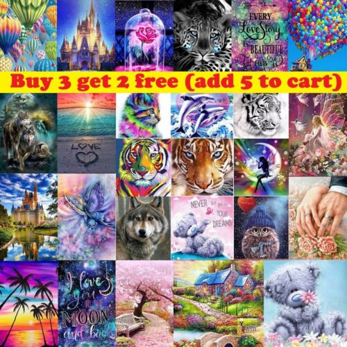 5D DIY Full Round Drill Diamond Painting Embroidery Cross Stitch Art Kits Decor