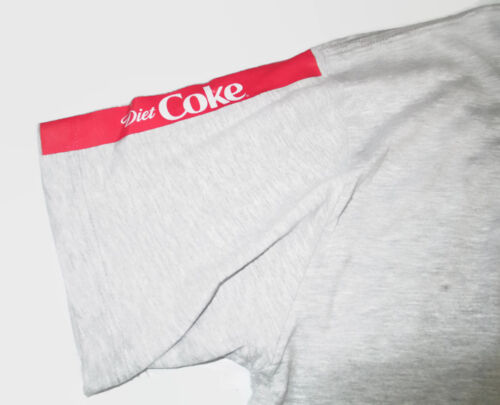 BRAND NEW Diet Coke Tee T-shirt Gray 95/% Cotton Small