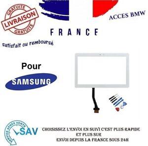 """Vitre ecran tactile pour Samsung Galaxy Tab 10.1"""" P7500 P7510 blanc + outils"""