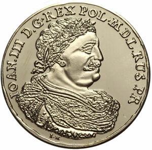 Polen-Jan-III-Sobieski-Medaille-5-Dukaten-Danzig-Gda-sk-in-Kapsel