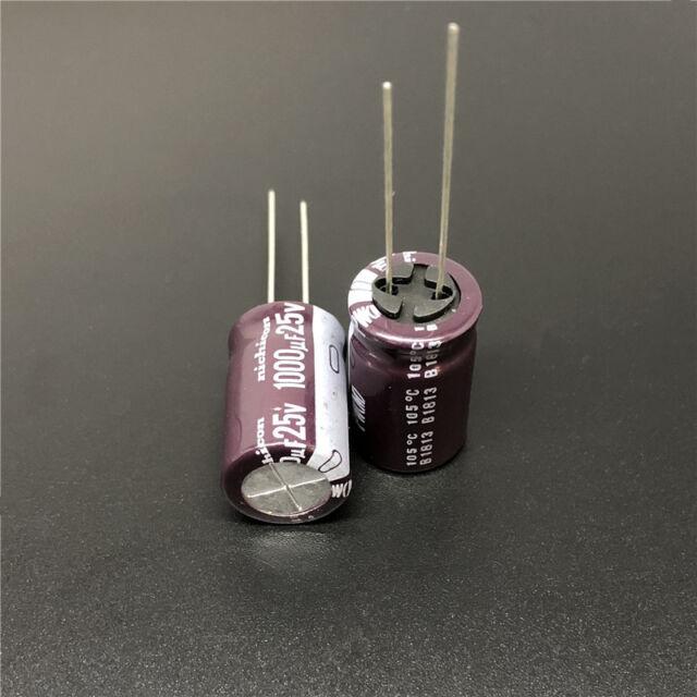 5/50pcs 1000uF 25V1000UF 12.5x20 Nichicon PW Low Impedance Long Life Capacitor