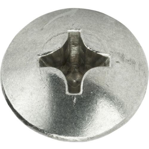 "#14 x 2/"" Sheet Metal Screws Truss Head Phillips Stainless Steel Qty 100"