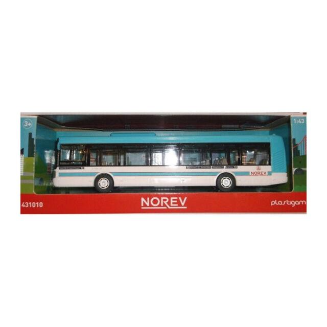 Norev 431010 Irisbus Bleu Clair Maquette de Voiture Échelle 1:43 Neuf PLASTIQUE