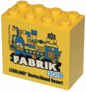 Lego Yellow Promotional Brick 2x4x3 Fabrik 2018 NEW!!!