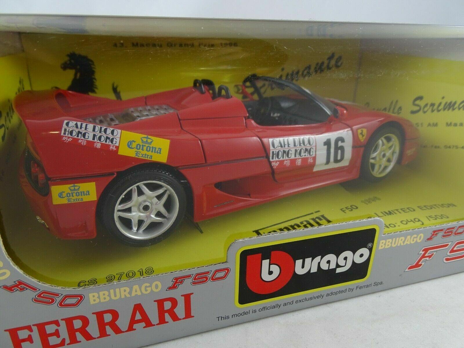 1 18 BBURAGO  3352 cavallo scrimante 1996 FERRARI f50  16 no. 49 of 500