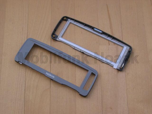 Original Nokia 9300i C - Cover | Displayrahmen | Rahmen Dunkelgrau Grau NEU