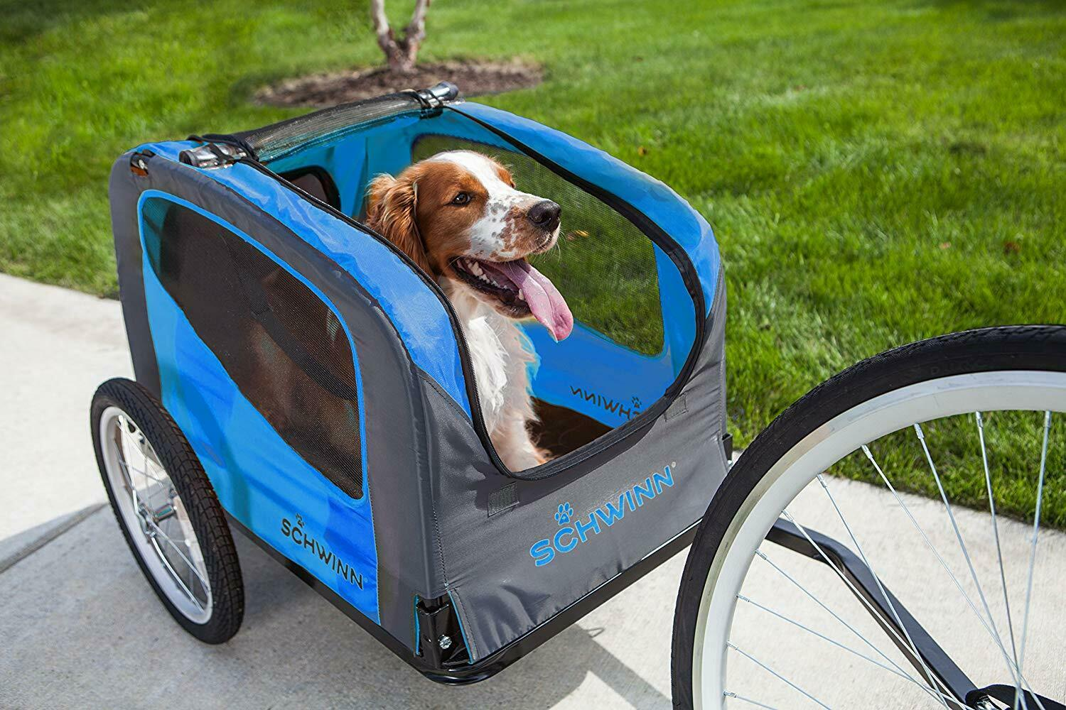 Bike Trailer for Dogs Foldable Safety Pet Outdoor Ride Bicycle Travel Carrier