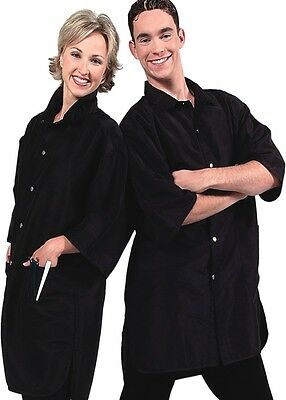 Geltex Hair Stylist Black Salon Wear S-3XL Antron Crinkle Nylon Water Repellant