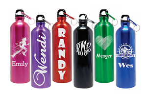 Personalized Stainless Steel Water Bottle 25oz 6 Colors FREE CUSTOM ENGRAVING