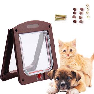 Pp material medium small pet cat puppy dog supplies lock lockable safe flap door ebay - Safe pet dog doors ...