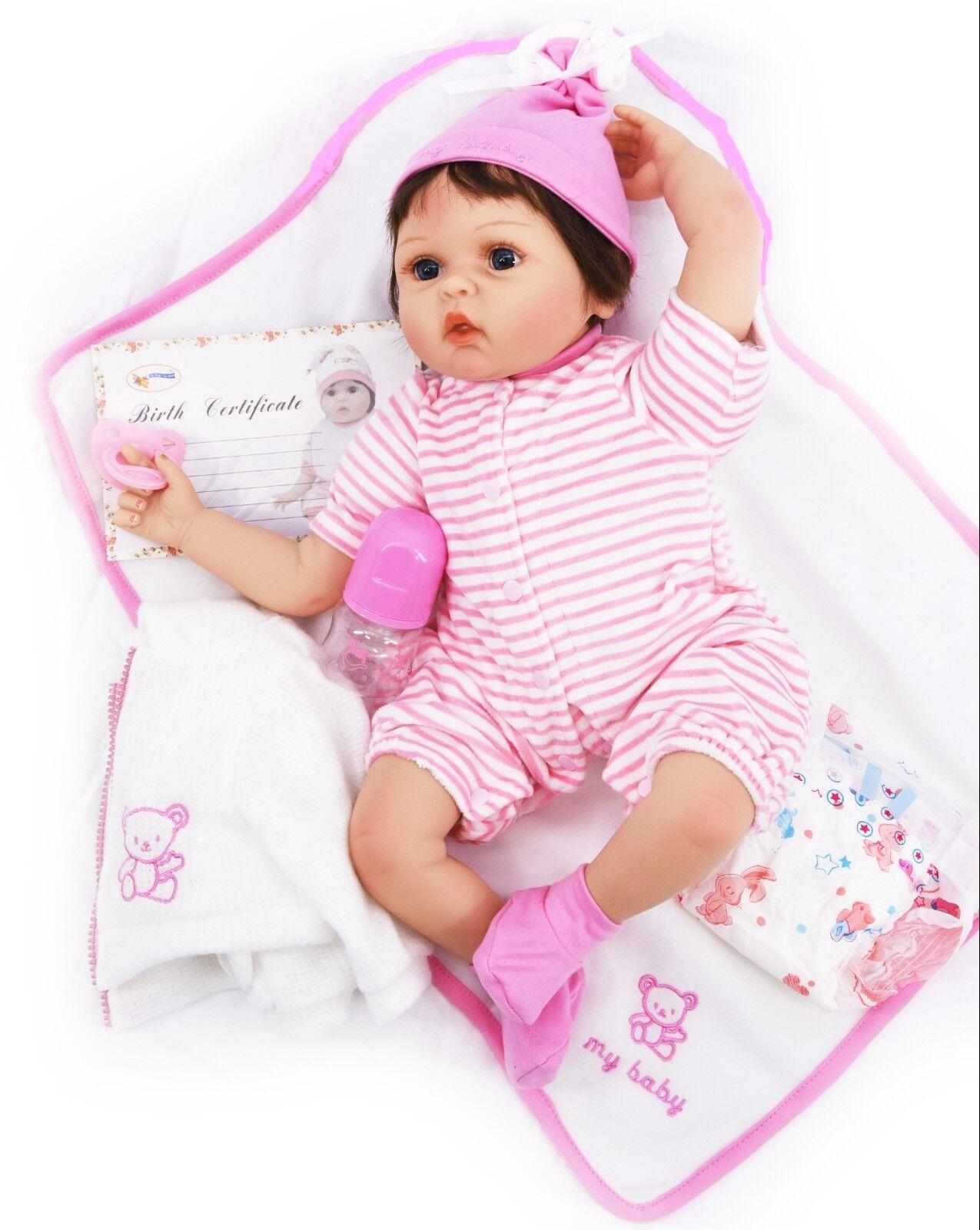 22  Reborn Baby Girl Handmade Lifelike Realistic Doll Dummy Blanket Gift Box