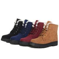 Damen Winter Sneaker Boots Turnschuhe Stiefeletten Gefüttert Winterschuhe 35-43