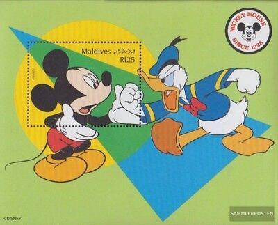 SchöN Malediven Block422 Postfrisch 1999 Walt-disney-figur Micky Maus kompl.ausg.