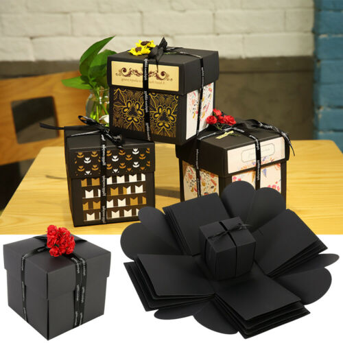 Novelty Bomb Explosion Box Memory Scrapbook Photo Album Anniversary Gift Box DIY
