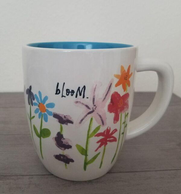 BRAND NEW RAE DUNN By Magenta BLOOM Flowers Mug Summer Home Dining Decor