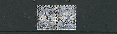 Australien 1913-14 Känguru Vf Gebraucht Eine Hohe Bewunderung Gewinnen Sg 9 Paar Wmk Wd Cwn / A