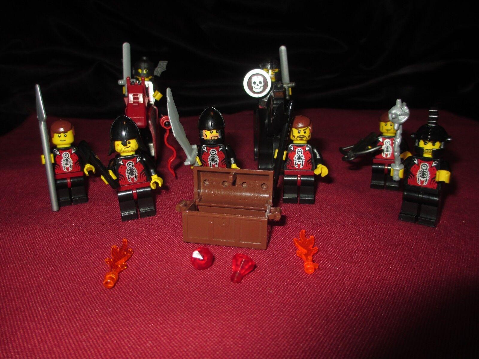 Lote De Minifiguras Lego Castillo Caballero, soldados, caballos, armaduras, escudos, armas,
