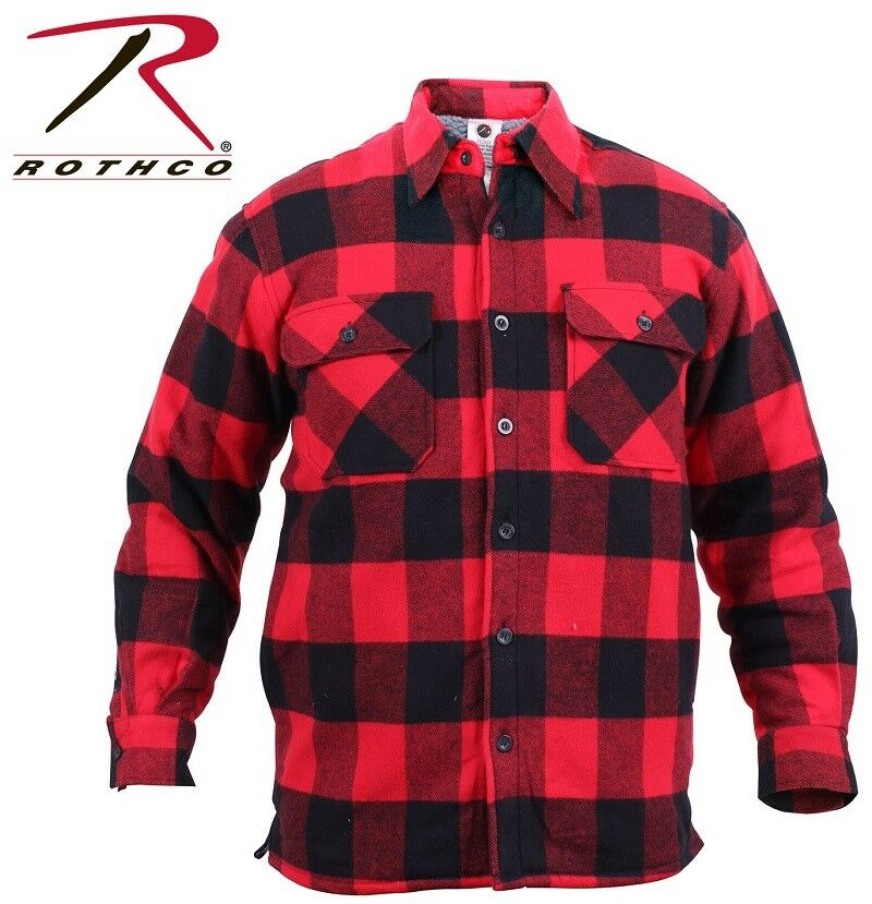 2edab205 Red Exta Heavyweight Buffalo Plaid Sherpa Lined Brawny Flannel Coat Shirt  3739. La Redoute Collections Mens Stylish Slim Fit Shirt