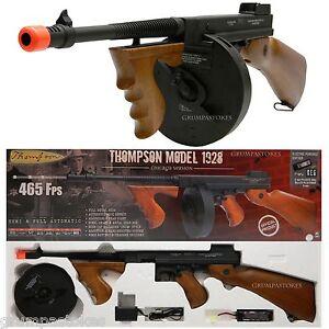 Electric Airsoft Gun Aeg Rifle Fully Licensed Thompson Chicago 1928 Tommy Gun 806481439014 Ebay