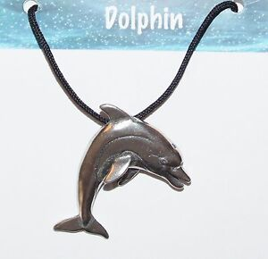 Made in USA Pewter Charm NEW EcoSmart Designs Dolphin Gift Necklace