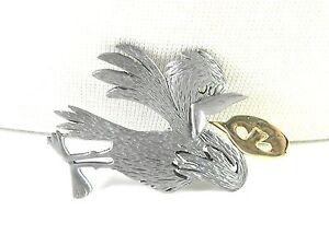 Bird-singing-Ultracraft-Vintage-Brooch-Pin-Figural