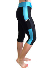 3 Quarter High Waisted Gym Tights Australia with Pockets for Yoga Workout  10 12 36748c5e74609