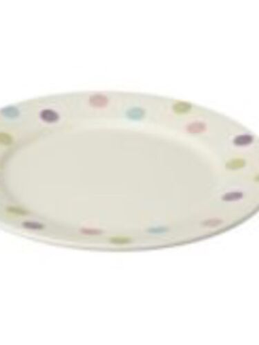 Fab 2 x Sorbet multi spot dinner plate Sainsbury/'s Hand Painted 27cm New