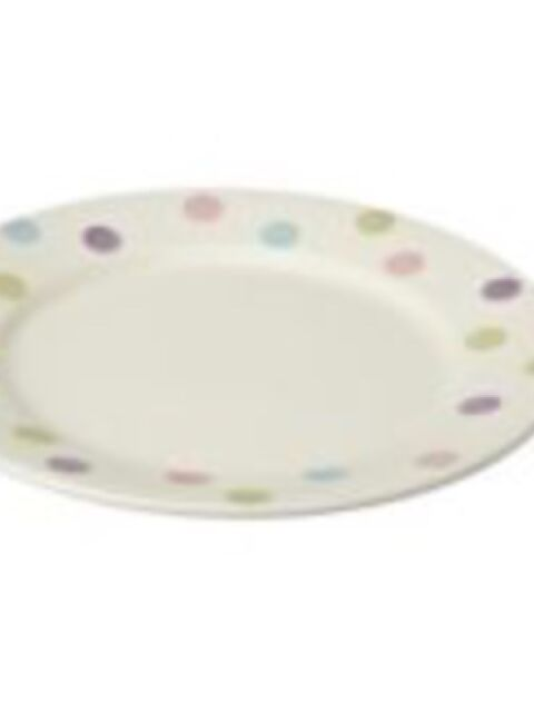 4x Sorbet multi spot dinner plate Sainsbury's Hand Painted 27cm New