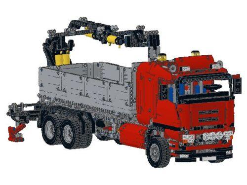Bauanleitung instruction Truck Scania LKW 8258 Eigenbau Unikat Moc Lego Technic