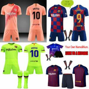 best sneakers 81b13 3e22b Details zu Neues 19/20 Fußball Kinder für 3-14 Jahre Trikot Jungen Sport  Jersey Kit+Socken