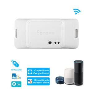 SONOFF RFR3 WIFI DIY Smart RF Control Switch Works with Alexa & Google Nest Z8M8
