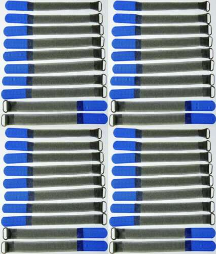 40 st. Câble-velcro FK 16cm x 16mm bleu velcro bandes câble velcro serre-câbles