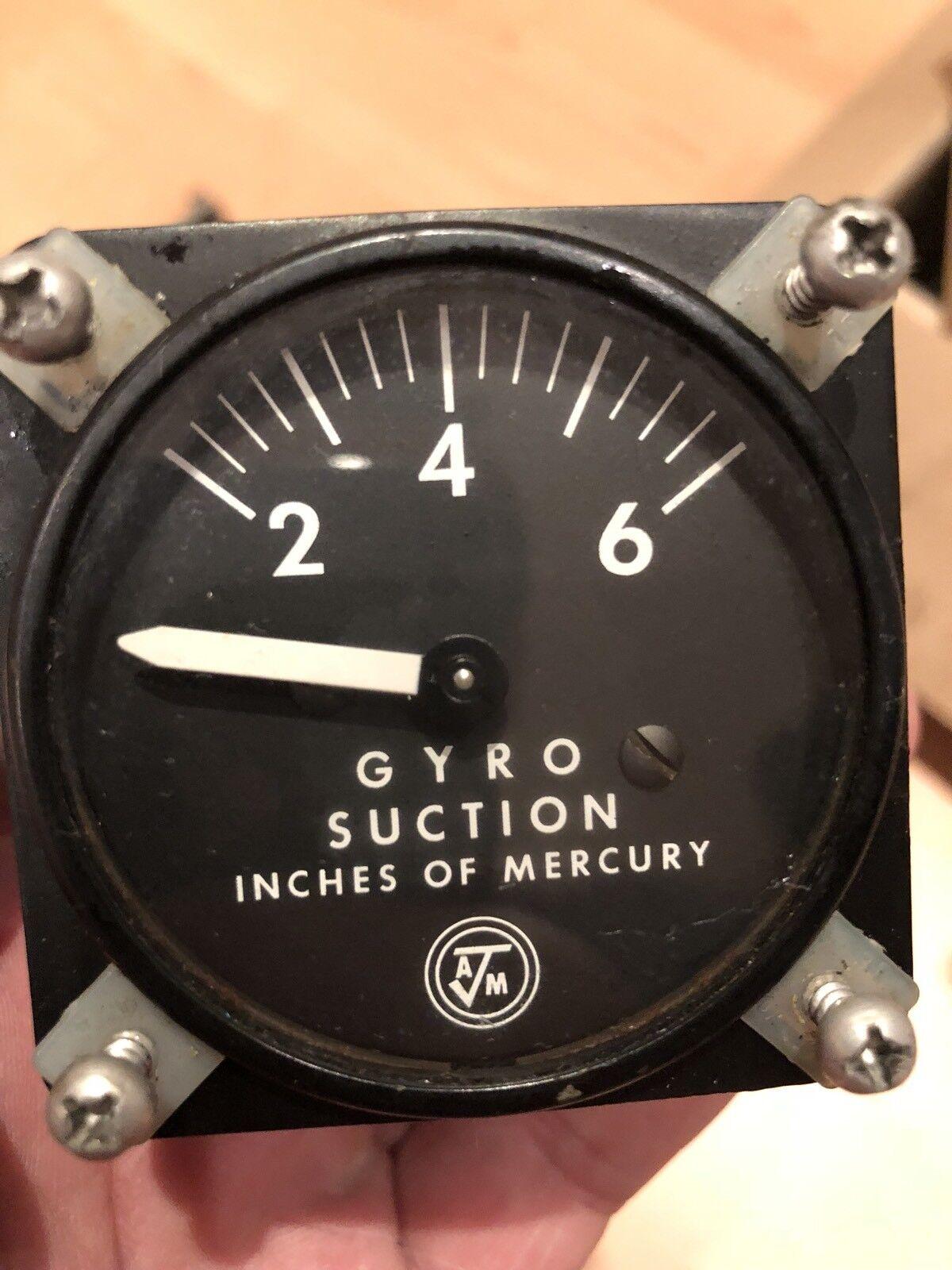 Airborne MFG Gyro suction Gauge P N 1g3-4