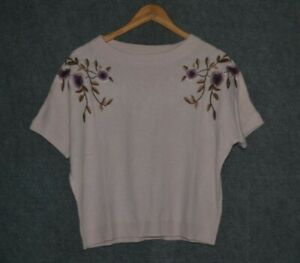 Massimo-Dutti-Embroidered-Sweater-Pale-Pink-S-New